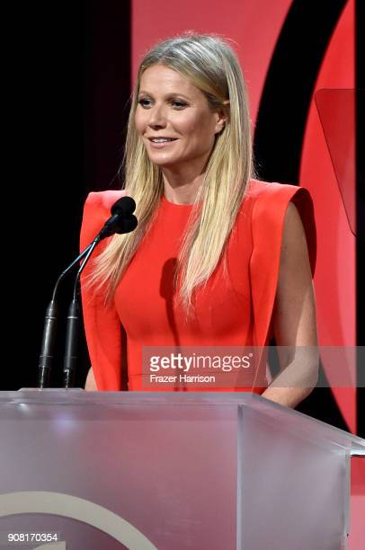 Gwyneth Paltrow on stage at the 29th Annual Producers Guild Awards at The Beverly Hilton Hotel on January 20 2018 in Beverly Hills California