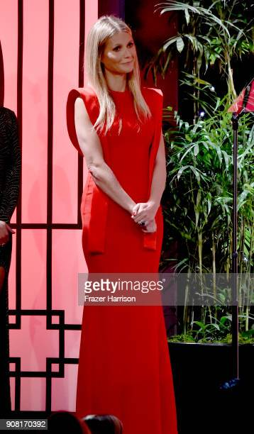 Gwyneth Paltrow on stage at the 29th Annual Producers Guild Awards at The Beverly Hilton Hotel on January 20, 2018 in Beverly Hills, California.