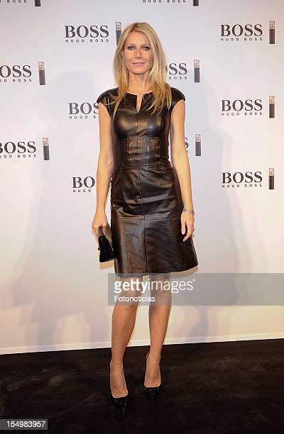 Gwyneth Paltrow presents 'Boss Nuit Pour Femme' fragrance at the Palacio de Neptuno on October 29 2012 in Madrid Spain