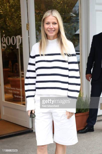 Gwyneth Paltrow seen leaving her GOOP store in Westbourne Grove after a book signing event for 'A Clean Plate' on June 18, 2019 in London, England.