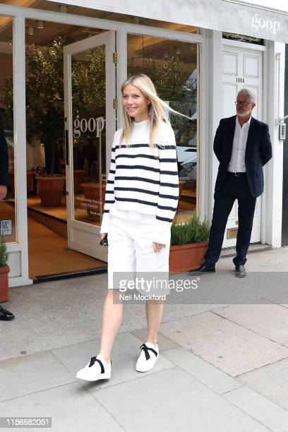 Gwyneth Paltrow seen leaving her GOOP store in Westbourne Grove after a book signing event for 'A Clean Plate' on June 18 2019 in London England