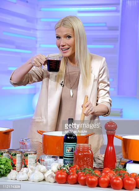 Gwyneth Paltrow shares her favorite family recipes on GOOD MORNING AMERICA, 4/13/11 airing on the Walt Disney Television via Getty Images Television...