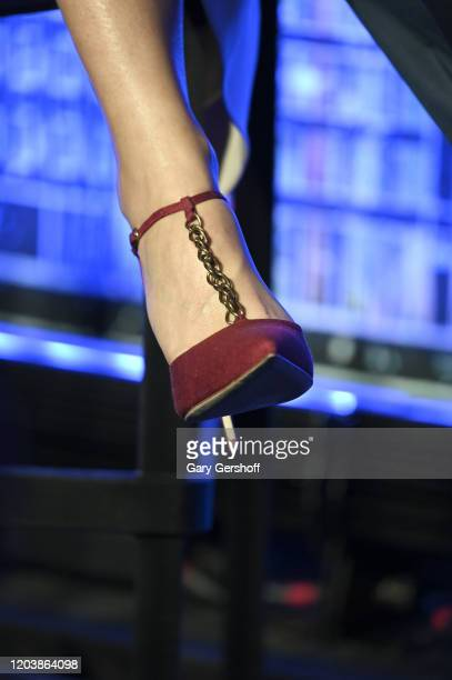 Gwyneth Paltrow shoe detail hosts a panel discussion at the JVP International Cyber Center grand opening on February 03 2020 in New York City