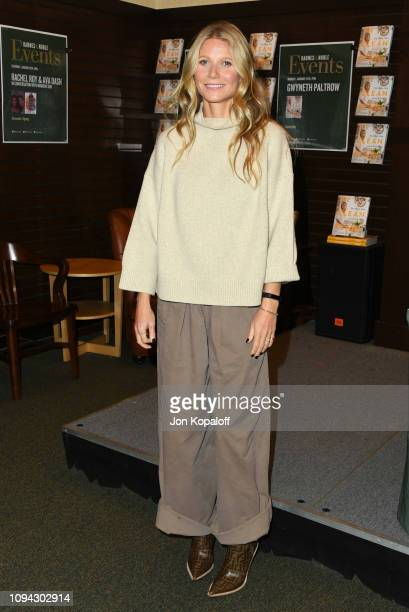 Gwyneth Paltrow Signs Copies Of Her New Book The Clean Plate at Barnes Noble at The Grove on January 14 2019 in Los Angeles California