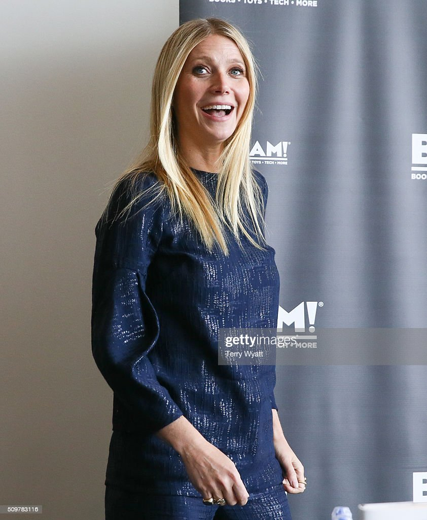 Gwyneth Paltrow signs her book 'It's all Good' during the the 2016 Antiques And Garden Show Of Nashville at Music City Center on February 12, 2016 in Nashville, Tennessee.
