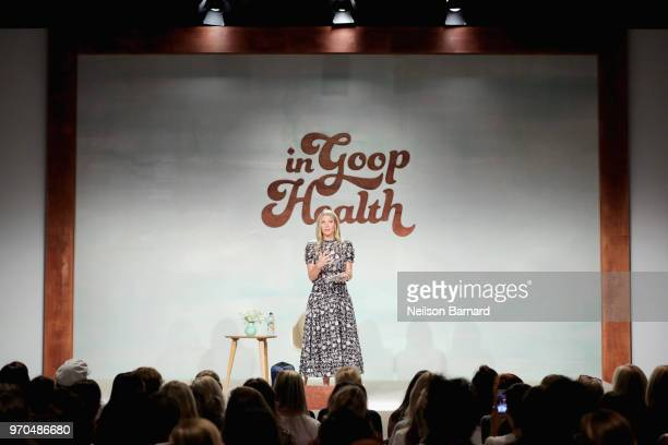 Gwyneth Paltrow speaks on stage at the In goop Health Summit at 3Labs on June 9, 2018 in Culver City, California.
