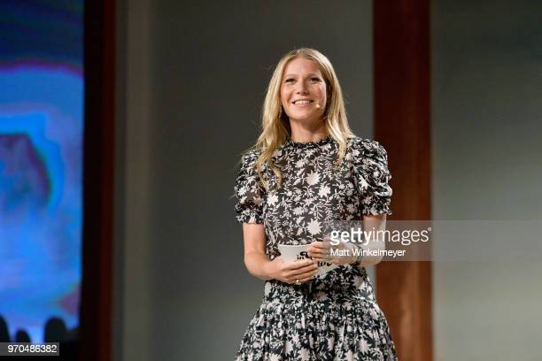Gwyneth Paltrow speaks onstage at the In goop Health Summit at 3Labs on June 9 2018 in Culver City California