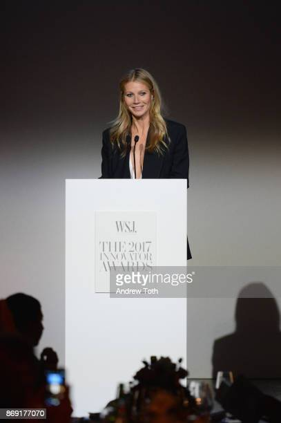 Gwyneth Paltrow speaks onstage during the WSJ Magazine 2017 Innovator Awards at MOMA on November 1 2017 in New York City