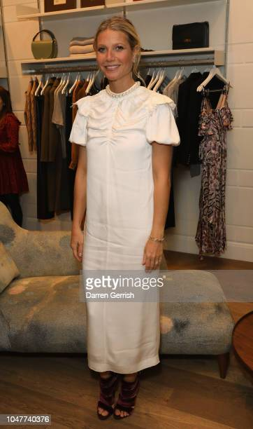 Gwyneth Paltrow toasts goops's 10th anniversary at goop London popup on October 8 2018 in London England