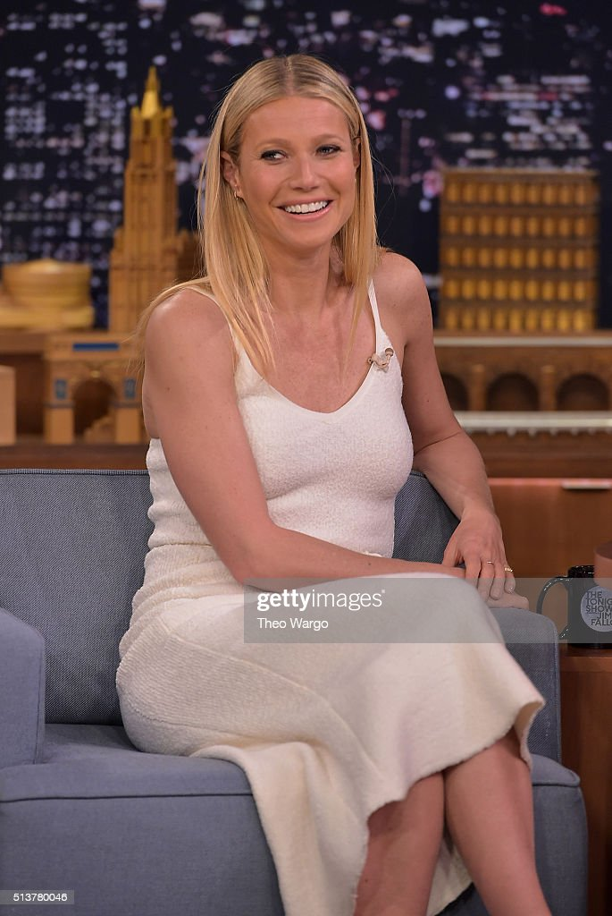 Gwyneth Paltrow Visits 'The Tonight Show Starring Jimmy Fallon' at NBC Studios on March 4, 2016 in New York City.