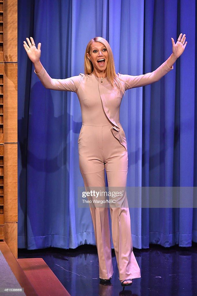 "Gwyneth Paltrow Visits ""The Tonight Show Starring Jimmy Fallon"" : News Photo"