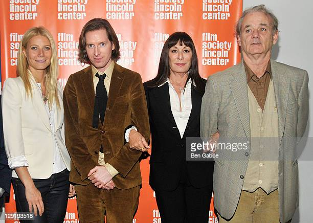 Gwyneth Paltrow Wes Anderson Anjelica Huston and Bill Murray attend the 10th Anniversary screening of the Royal Tenenbaums during the 49th Annual New...