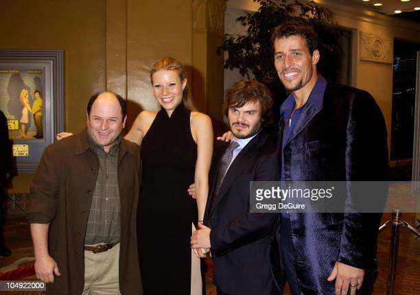 Gwyneth Paltrow with Jason Alexander, Jack Black & Tony Robbins