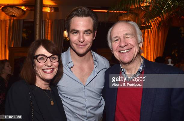 Gwynne Gilford Chris Pine and Robert Pine attend the after party for the premiere of TNT's I Am The Night on January 24 2019 in Los Angeles California