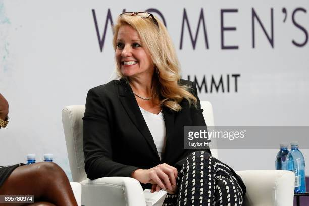 Gwynne Shotwell speaks during the 2017 Forbes Women's Summit at Spring Studios on June 13 2017 in New York City