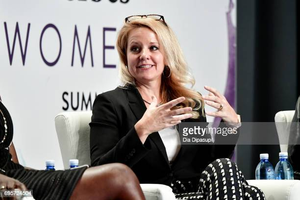 Gwynne Shotwell speaks onstage during the 2017 Forbes Women's Summit at Spring Studios on June 13 2017 in New York City