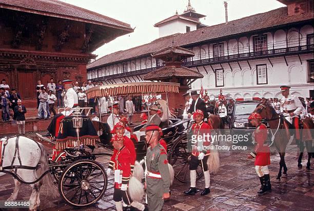 Gyanendra Bir Bikram Shah Dev, King of Nepal during his Coronation ceremony at Nepal