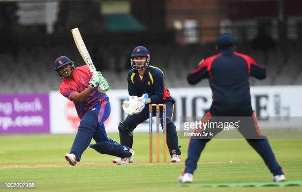Gyanendra Malla of Napal batting during the T20 Triangular Tournament match between MCC and Nepal at Lords on July 29, 2018 in London, England.