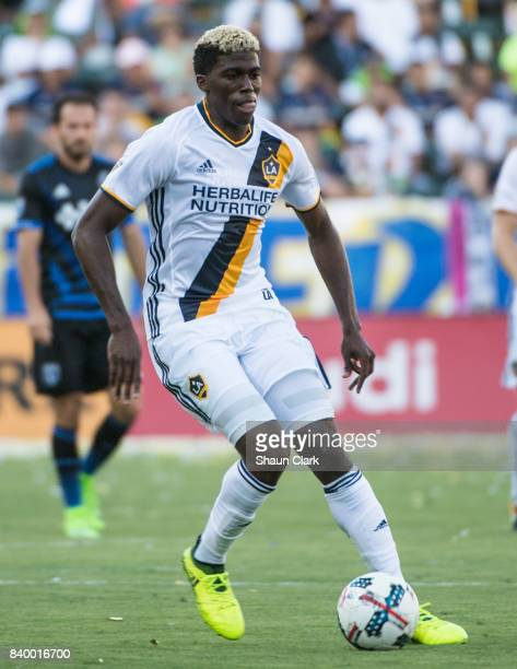 Gyasi Zardes of Los Angeles Galaxy during the Los Angeles Galaxy's MLS match against San Jose Earthquakes at the StubHub Center on August 27 2017 in...