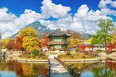 Gyeongbokgung Palace in autumn,South Korea.