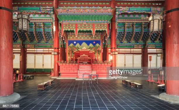 gyeongbokgung palace - gyeongbokgung stock photos and pictures