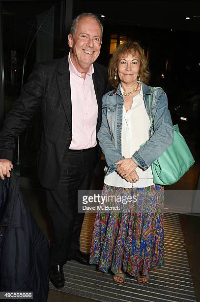 Gyles Brandreth and Michele Brown attend the press night of Pure Imagination The Songs of Leslie Bricusse at the St James Theatre on September 29...