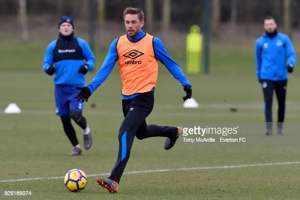 Gylfi Sigurdsson during an Everton FC training session at USM Finch Farm on March 6 2018 in Halewood England