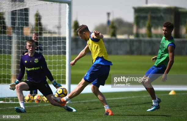 Gylfi Sigurdsson in action during the Everton warm weather training camp at NAS Sports Complex on February 17 2018 in Dubai United Arab Emirates