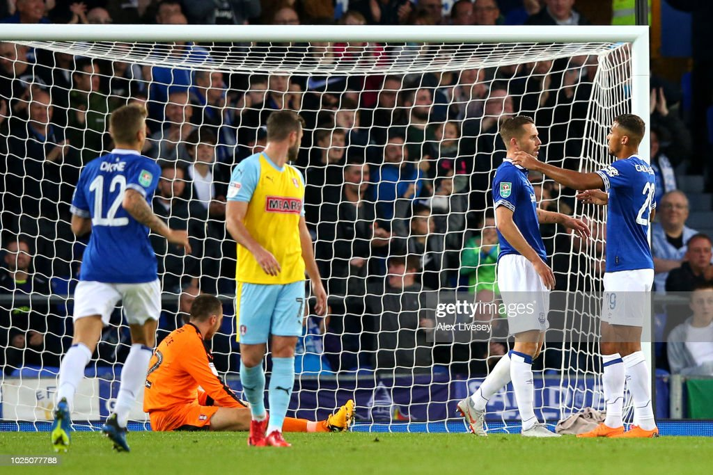 Everton v Rotherham United - Carabao Cup Second Round : News Photo