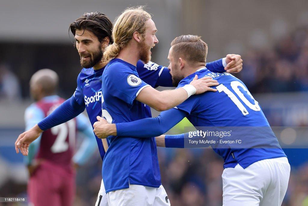 Everton FC v West Ham United - Premier League : Nieuwsfoto's