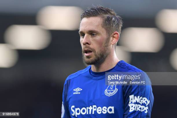 Gylfi Sigurdsson of Everton during the Premier League match between Everton and Crystal Palace at Goodison Park on February 10 2018 in Liverpool...