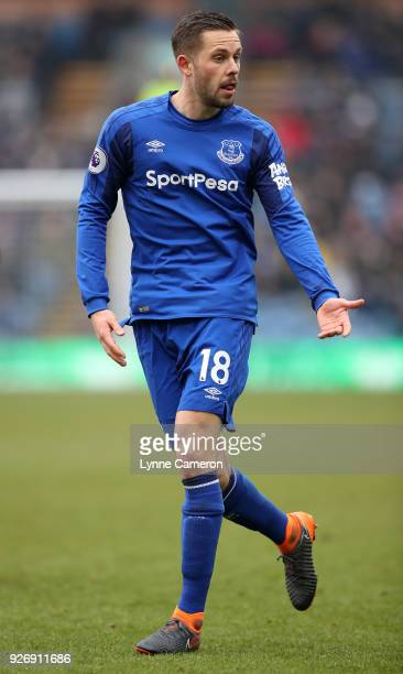 Gylfi Sigurdsson of Everton during the Premier League match between Burnley and Everton at Turf Moor on March 3 2018 in Burnley England