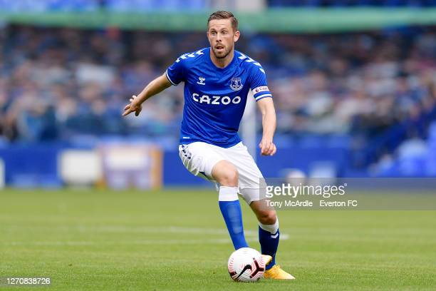 Gylfi Sigurdsson of Everton during the PreSeason Friendly match between Everton and Preston North End at Goodison Park on September 5 2020 in...