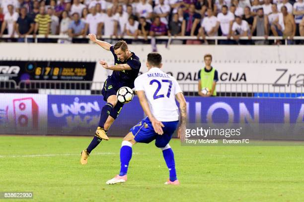 Gylfi Sigurdsson of Everton during the UEFA Europa League Qualifying PlayOffs round second leg between Hajduk Split and Everton on August 24 2017 in...