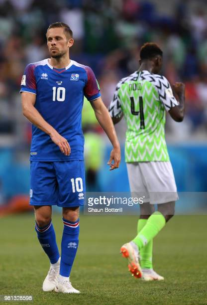 Gylfi Sigurdsson of Iceland look dejecte dafter missing the penalty during the 2018 FIFA World Cup Russia group D match between Nigeria and Iceland...
