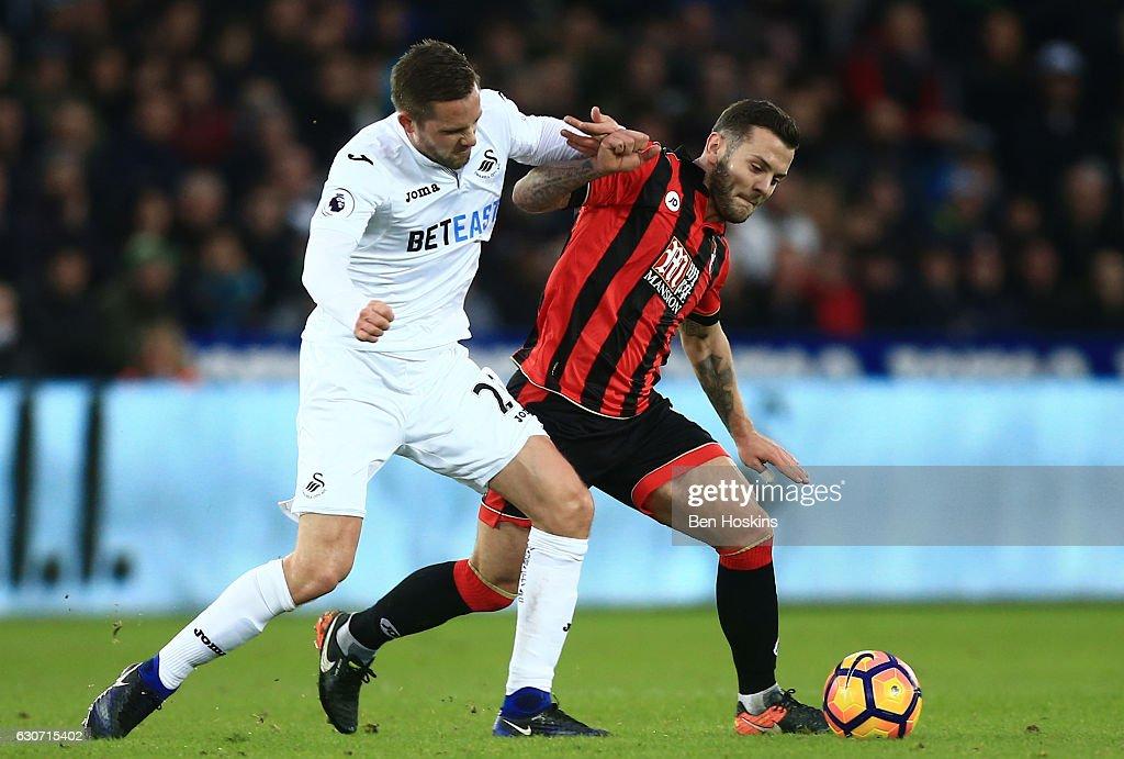 Swansea City v AFC Bournemouth - Premier League : Nieuwsfoto's
