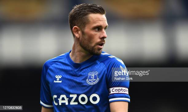 Gylfi Sigurosson of Everton look on during the pre-season friendly match between Everton and Preston North End at Goodison Park on September 05, 2020...