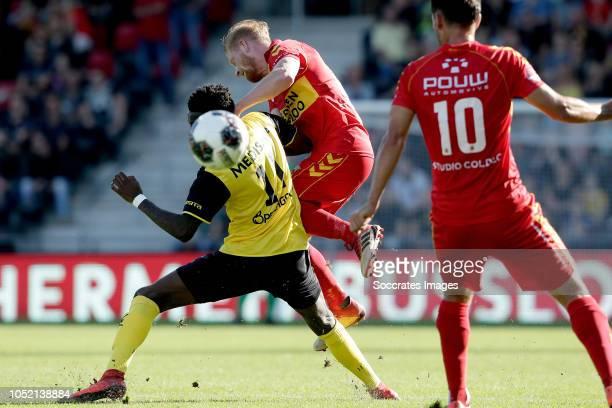 Gyliano van Velzen of Roda JC Richard van der Venne of Go Ahead Eagles during the Dutch Keuken Kampioen Divisie match between Go Ahead Eagles v Roda...
