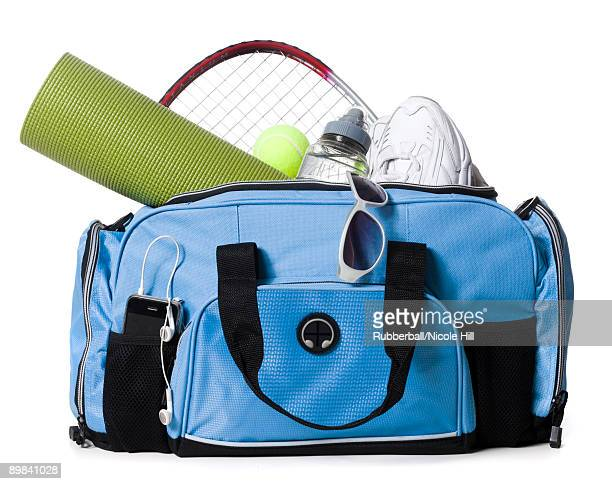 gym bag - gym bag stock pictures, royalty-free photos & images