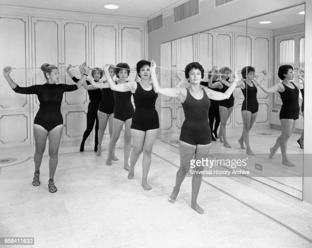 Gym Class Helena Rubinstein Beauty Salon Fifth Avenue New York City New York USA by Samuel H Gottscho September 1961