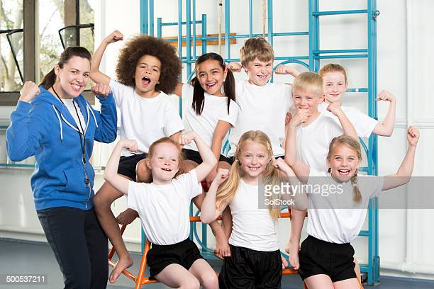 gym class - school gymnastics stock photos and pictures