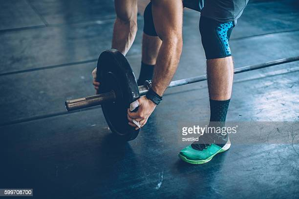 gym day - barbell stock pictures, royalty-free photos & images