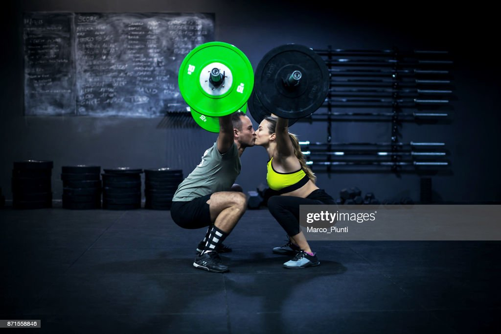 gym fitness lovers workout barbell stock photo getty images