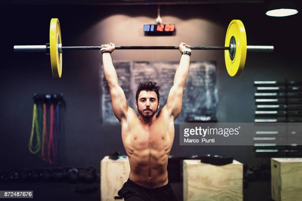 Gym fitness - Men Workout Barbell