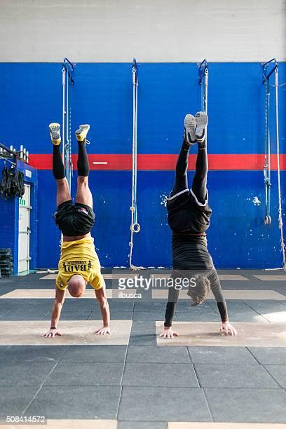 gym gym workout: Handstand