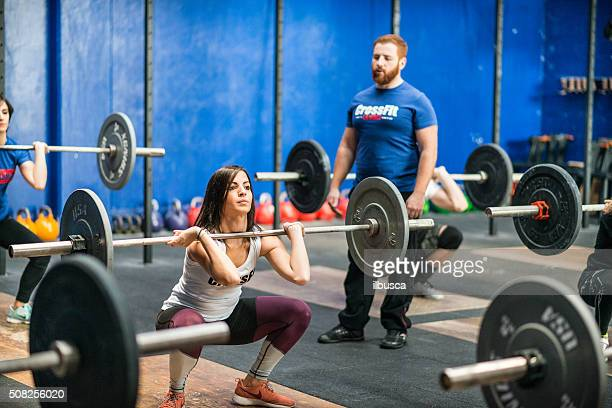 gym gym workout: Weightlifting class