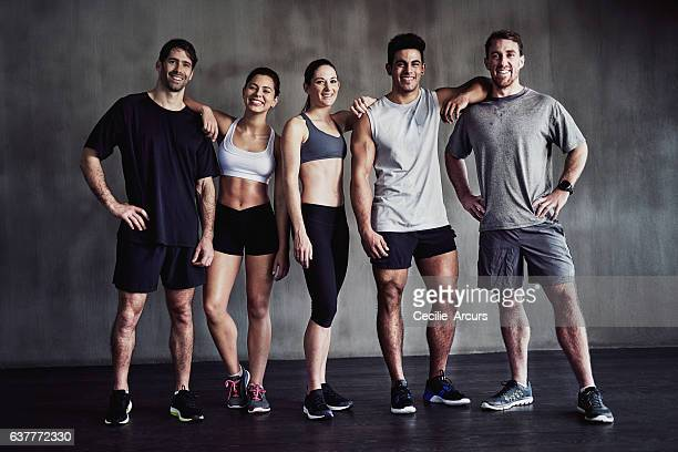 gym lovers unite - sportswear stock pictures, royalty-free photos & images