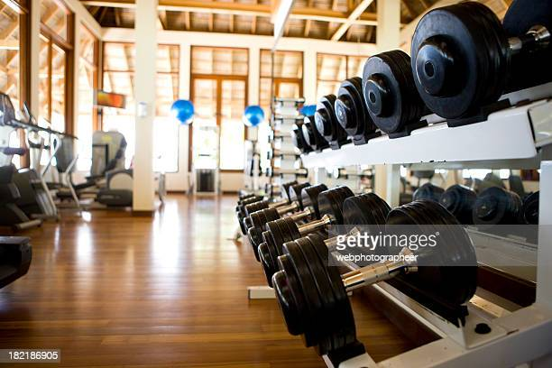 gym - hand weight stock pictures, royalty-free photos & images