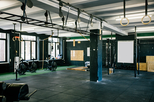 A Gym Scene With Various Equipment - gettyimageskorea