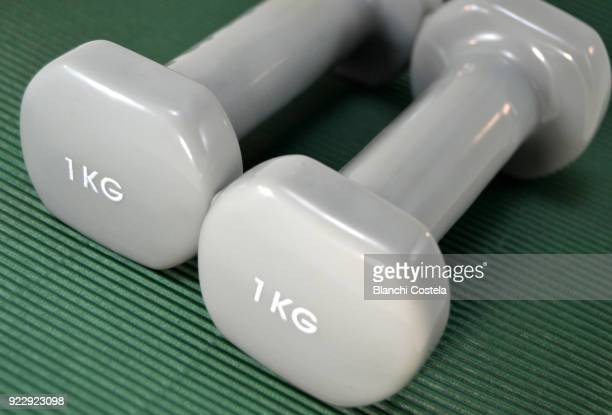 Gym weights of one kilo